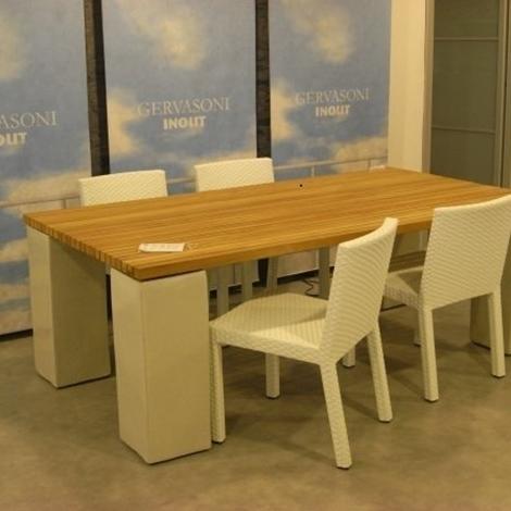 Gervasoni tavolo e sedie arredo giardino a prezzi scontati for Tavolo sedie giardino prezzi