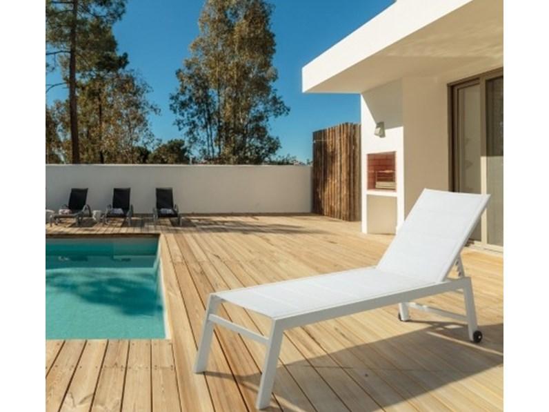 Lettino prendisole in alluminio hilde bizzotto divano da for Bizzotto arredo giardino