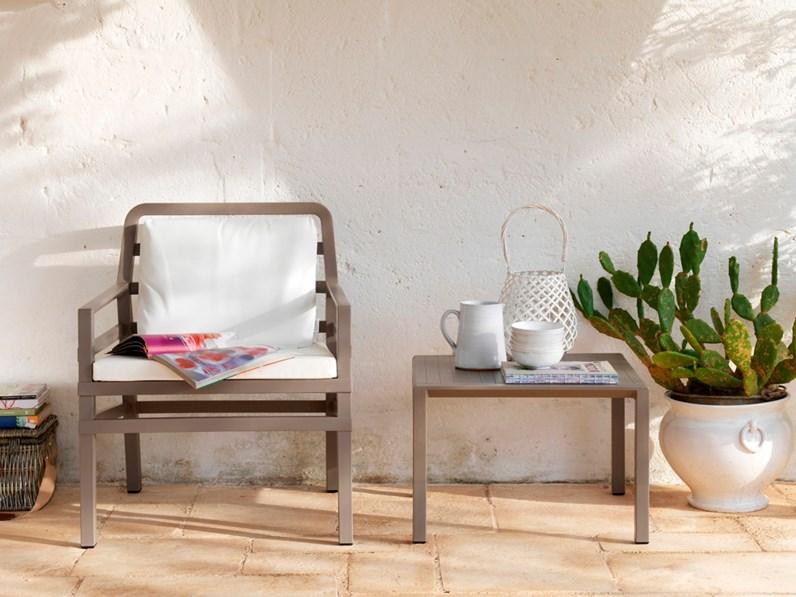 Nardi outdoor aria tortora 40 cm tavolo da giardino in for Arredo giardino brescia