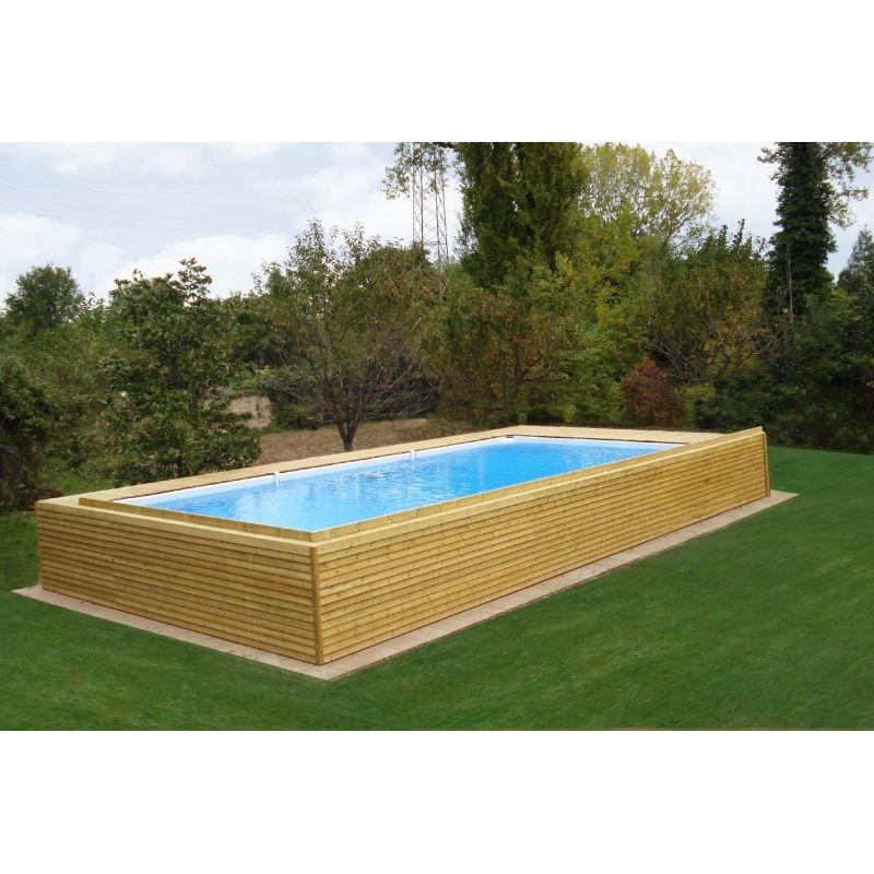 Piscina Fuori Terra con rivestimento in legno impregnato in autoclave - Arredo giardino a prezzi ...