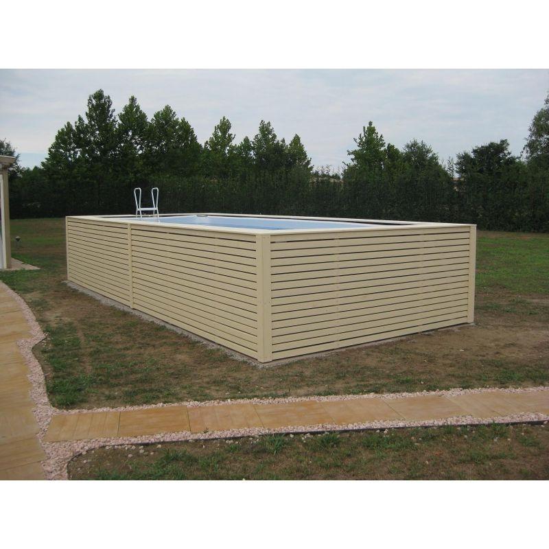 Piscina fuori terra su misura con rivestimento in legno - Rivestire piscina fuori terra fai da te ...