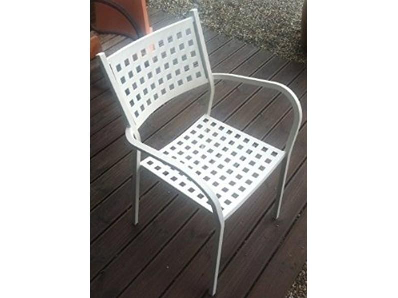 Poltrona alice vermobil colore bianco sedia da giardino a for Outlet giardino