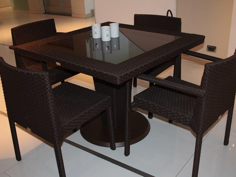 Roberti rattan saint tropez tavolo da giardino con forte for Arredo giardino mercatone uno