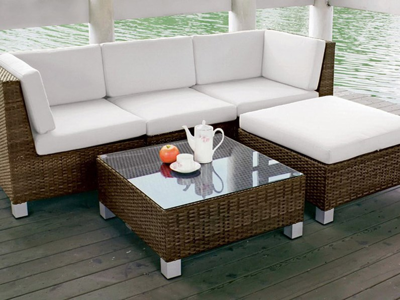 Rossanese Composizione CS0109 Divano e seduta da esterno