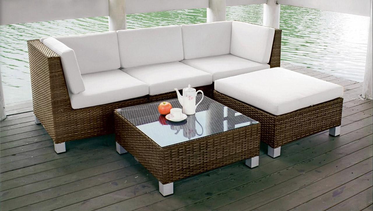 Rossanese composizione cs0109 divano e seduta da esterno for Arredo giardino divani