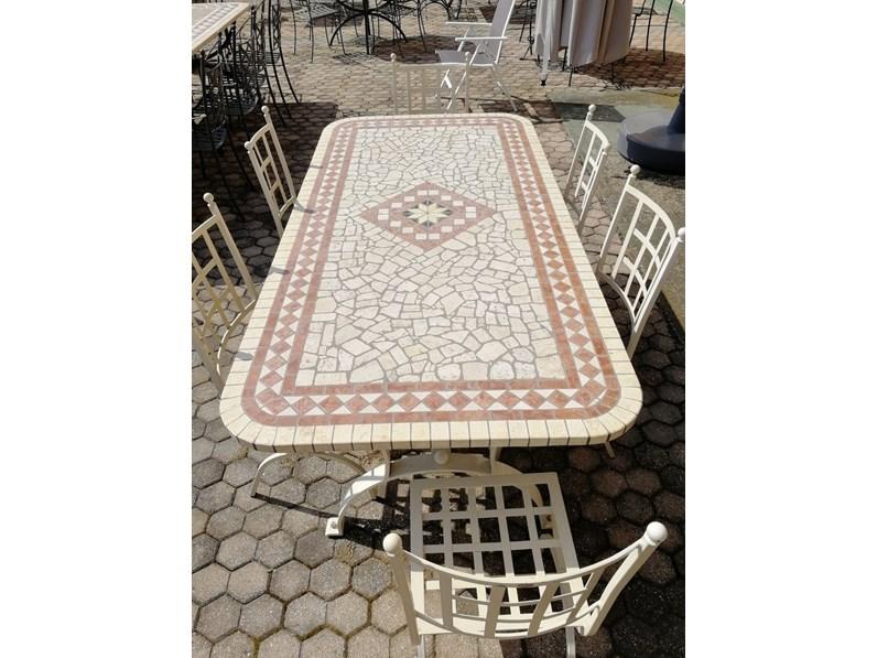 Rosso veronese tavolo da giardino a prezzi outlet for Arredo da giardino prezzi