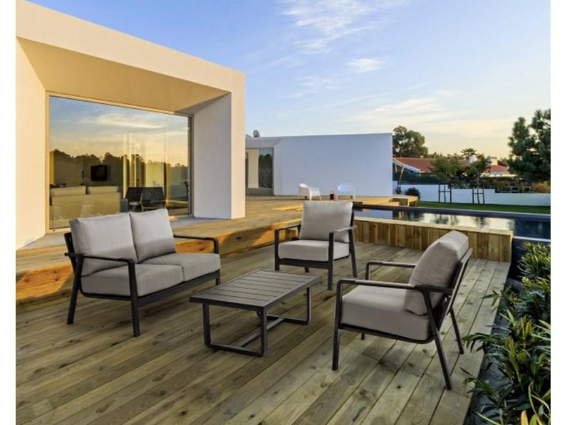 Salotto antares antracite set4 bizzotto divano da for Bizzotto arredamenti