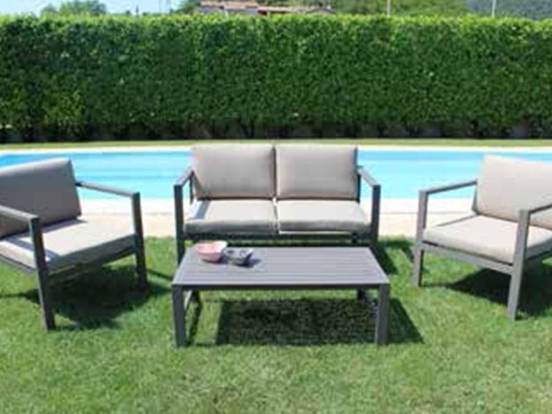 Salotto avana taupe con cuscini cosma outdoor living a for Outlet giardino