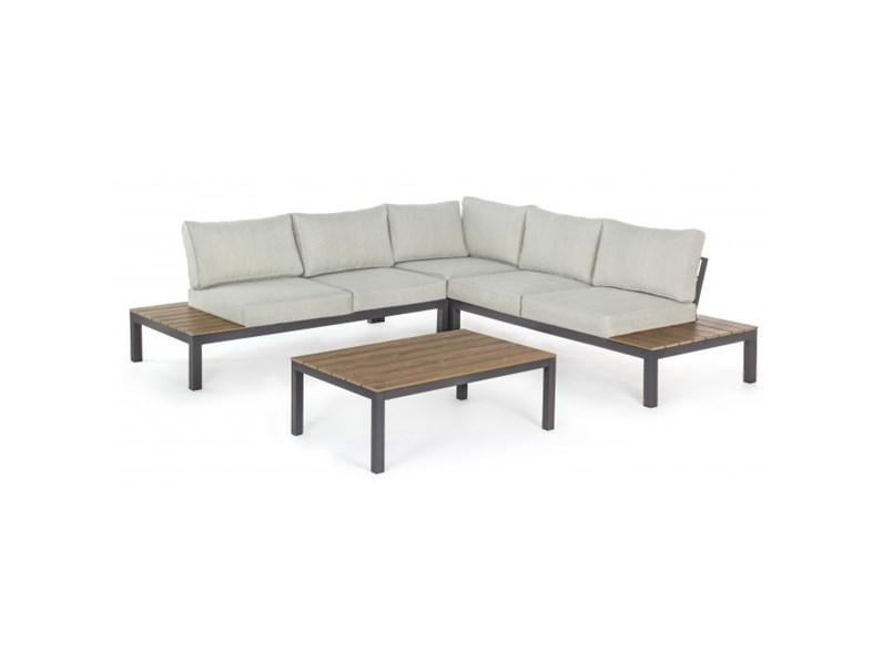 Salotto elias angolare antracite bizzotto divano da for Arredamento per giardino outlet