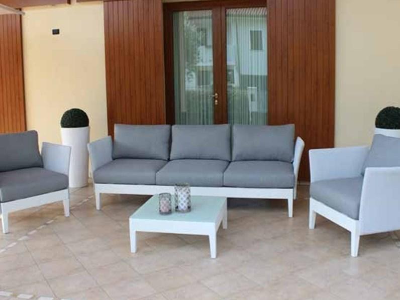 Salotto minneapolis bianco 5 posti cosma outdoor living for Arredo giardino bianco