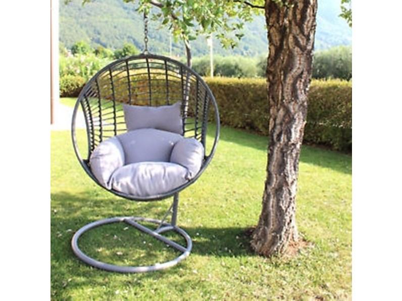 Sedia da giardino dondolo elba grigio cosma outdoor living a