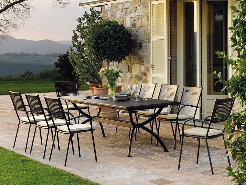 Sedia da giardino vermobil poltrona summertime con uno for Arredo giardino mercatone uno