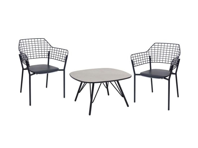 Set 2 poltrone lyze e tavolo basso lyze emu a prezzi outlet for Arredo giardino on line outlet