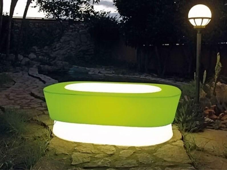 Set da giardino design 4 poltroncine piu tavolino vari colori for Arredo giardino design outlet