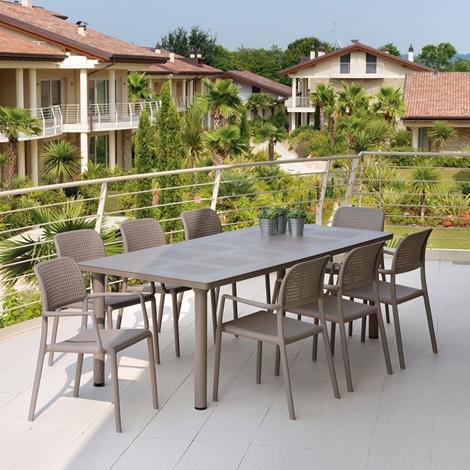 Tavolo allungabile 6 poltroncine arredo giardino a for Tavolo sedie giardino prezzi