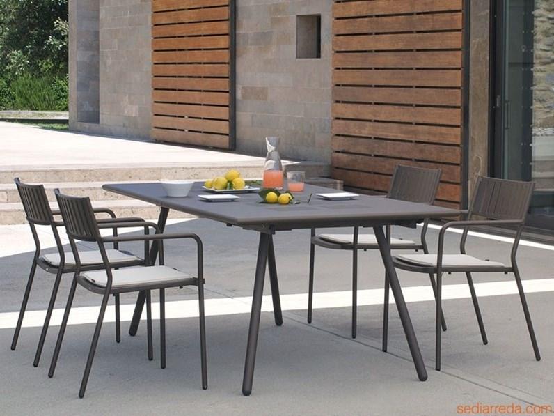 Tavolo bridge con 6 poltroncine bridge Emu: tavolo da giardino in ...