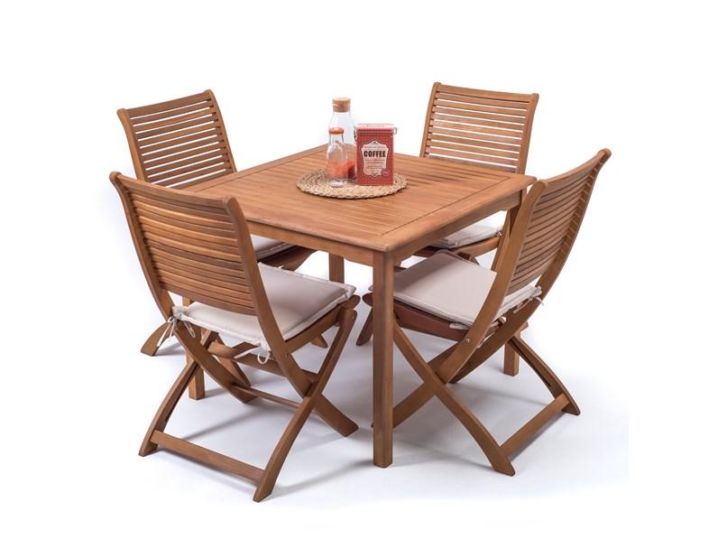 Tavolo da giardino 90 x 90 con 2 sedie iris cosma outdoor for Tavolo riflessi living prezzo