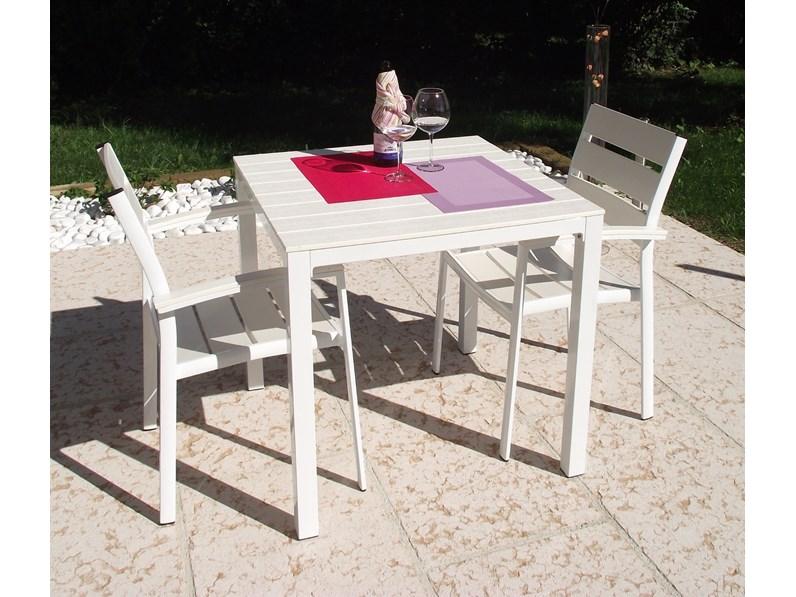 Tavolo da giardino atlanta con 2 sedie bianco cosma for Tavolo riflessi living prezzo