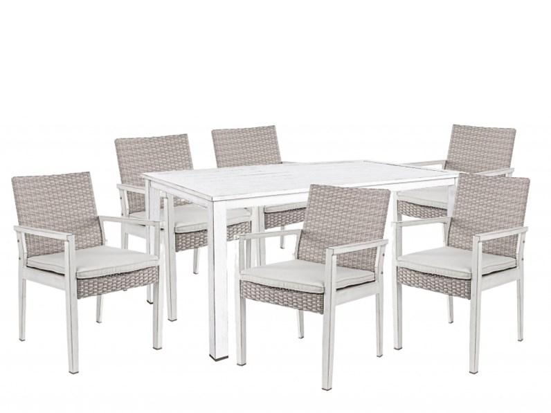 tavolo da giardino bizzotto cody con 6 sedie floyd a