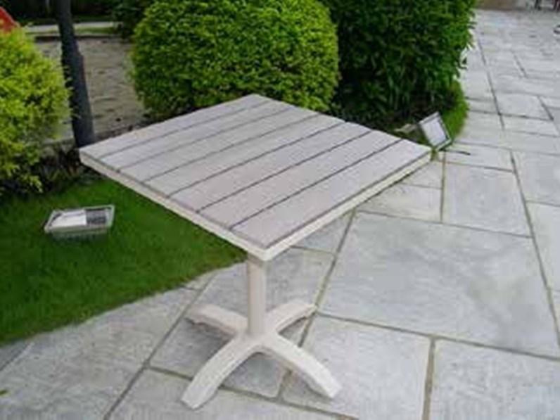 Tavolo da giardino cervia 70x70 tortora cosma outdoor for Tavolo riflessi living prezzo