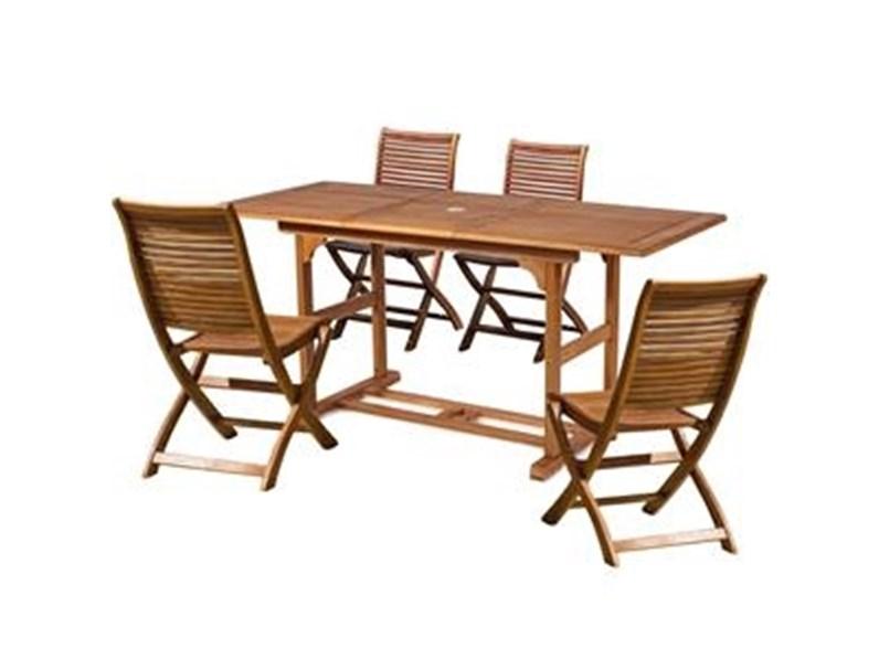 Tavolo Da Giardino Con 4 Sedie.Tavolo Da Giardino Cosma Outdoor Living Rettangolare 120 160 Con 4