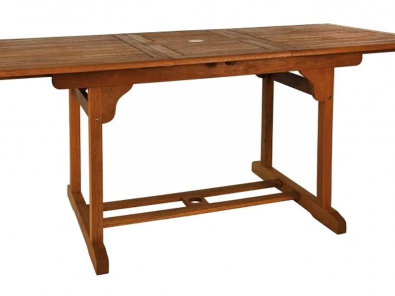 Tavolo da giardino cosma outdoor living rettangolare 120 for Arredo giardino design outlet