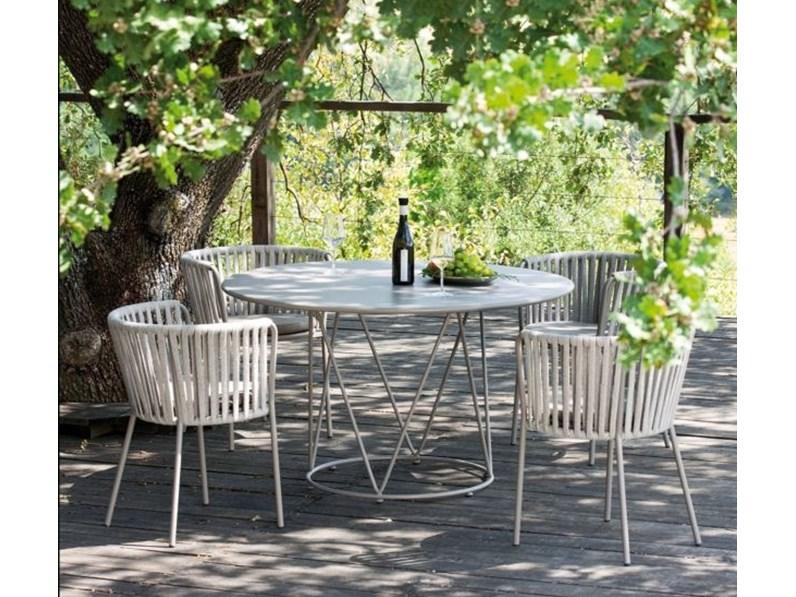 Tavolo da giardino Desiree 130 cm con 4 sedie Vermobil OFFERTA OUTLET