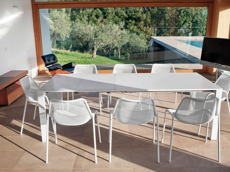 Tavoli Da Giardino Emu.Tavolo Da Giardino Emu Round In Hpl Bianco Scontato Del 20