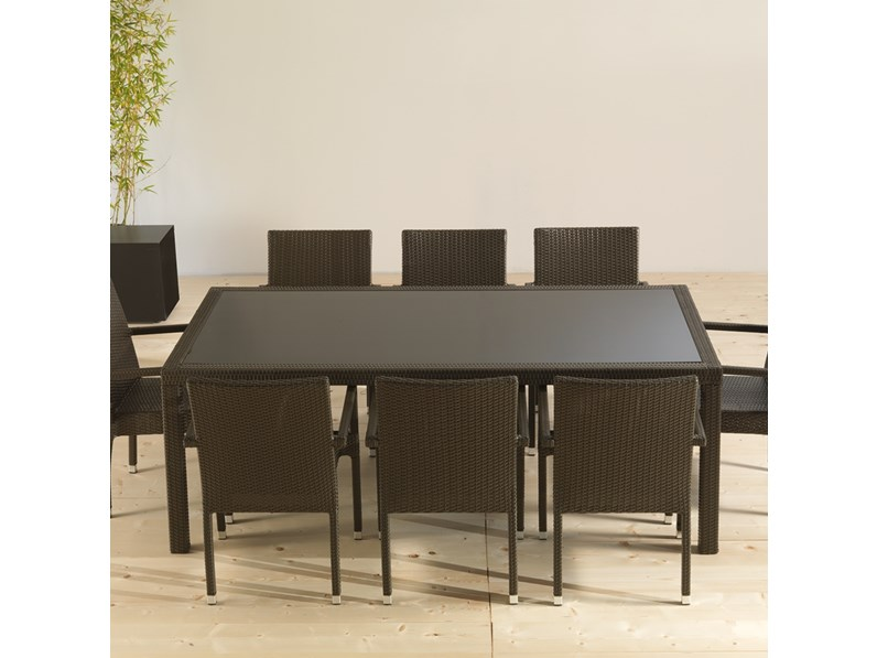 Tavolo da giardino la seggiola a prezzo outlet for Arredo giardino rattan outlet