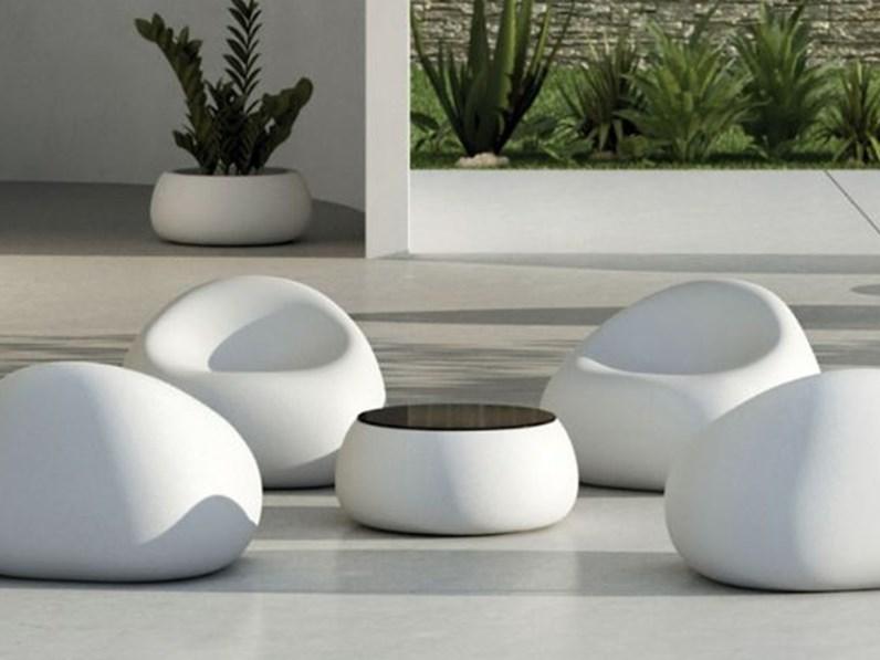 Tavolo da giardino stone tavolino contenitire la seggiola