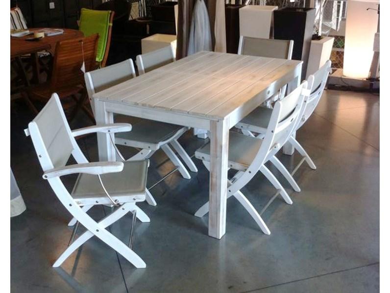 Tavolo da giardino Tavolo 150 -> 200 x 90 con 6 sedie alexa Cosma ...