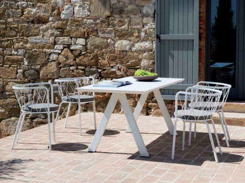 Tavolo da giardino tavolo desiree vermobil offerta outlet for Arredo giardino on line outlet