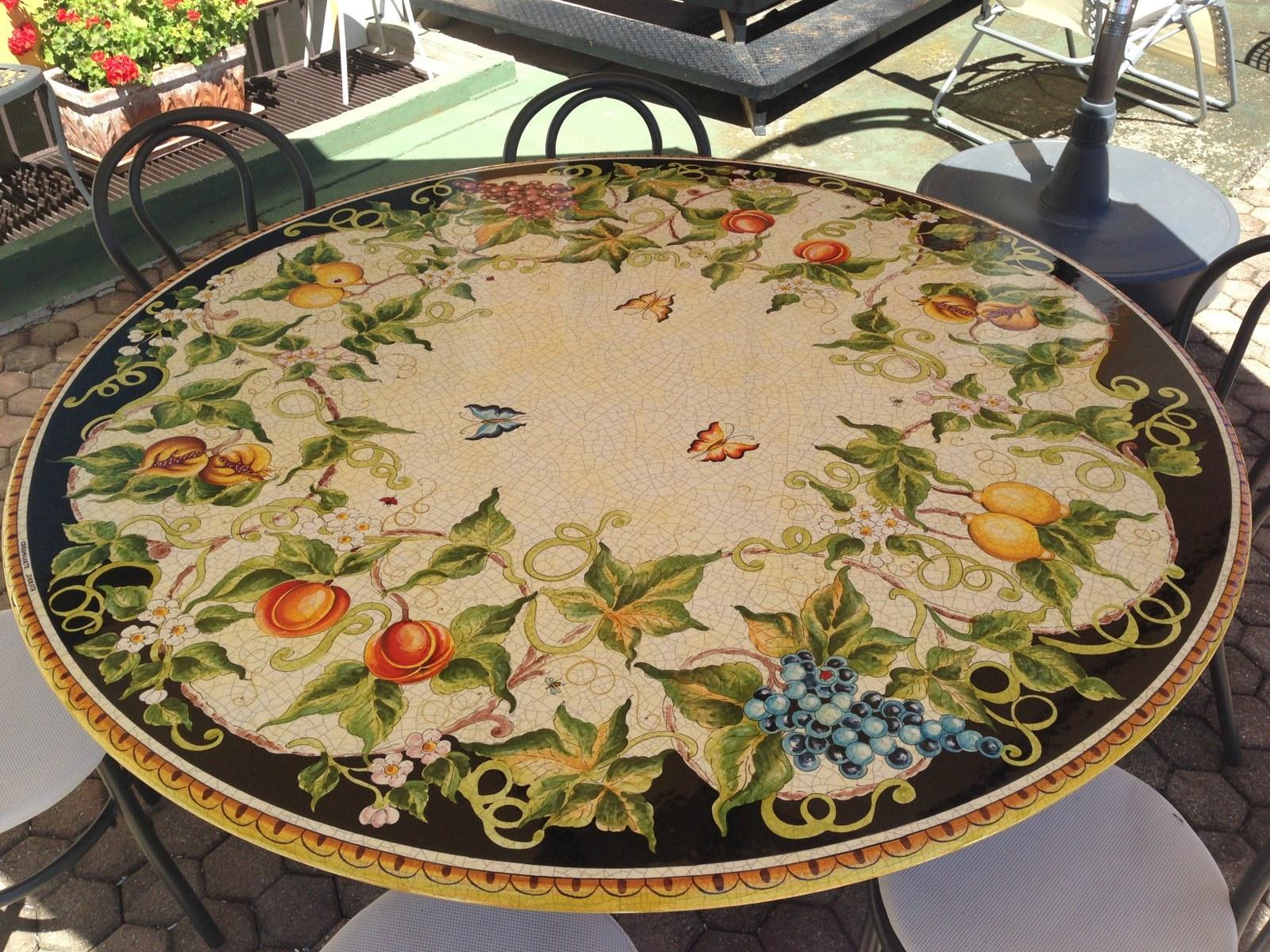 Tavolo deruta diametro 150 cm scontato del  35 %   arredo giardino ...
