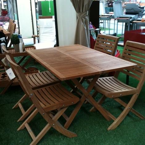 Tavolo teak e sedie scontati arredo giardino a prezzi for Tavolo sedie giardino prezzi
