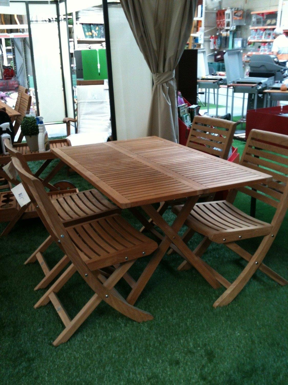 tavolo teak e sedie scontati arredo giardino a prezzi