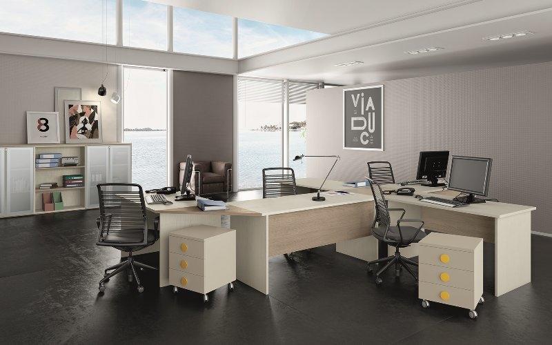 Arredamento per ufficio scrivanie angolari e mobili della for Design della cabina ufficio