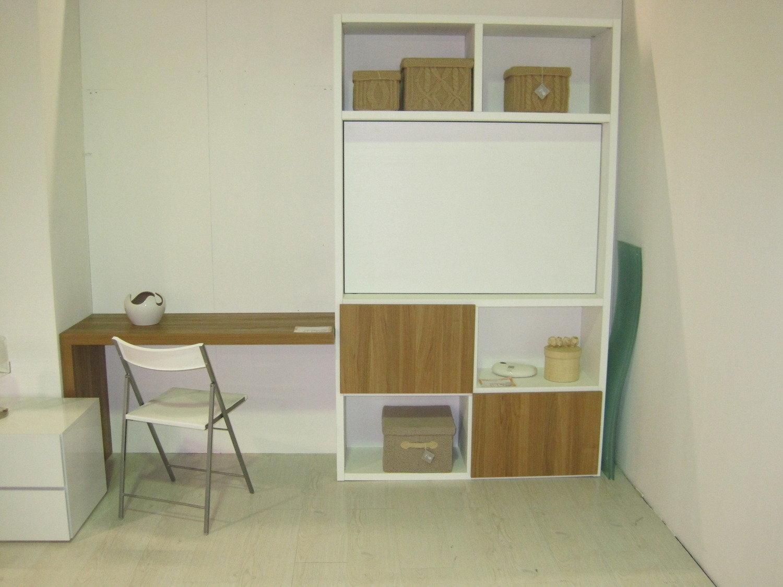 Parete libreria con porta tv arredo ufficio a prezzi for Mobili ufficio scontati
