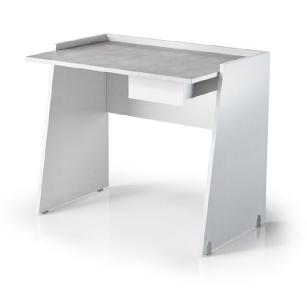 Scrivania con cassetto e piano in finitura effetto cemento for Arredo scrivania