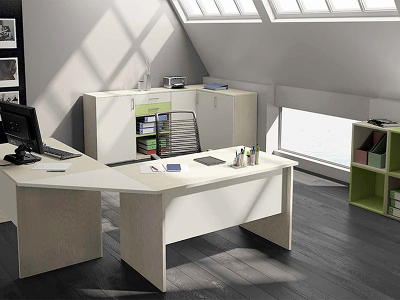 Scrivania Grande Da Ufficio : Scrivanie da ufficio. scrivania porta computer pc piano in mdf