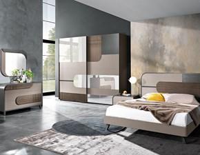 Camera da letto Ambiente 01 trendy grey Saber in legno a prezzo Outlet