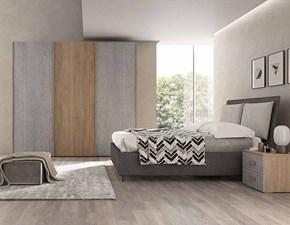 Camera da letto Camera matrimoniale cemento in doppia finitura 13305 Artigianale in laminato a prezzo scontato