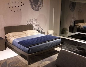 Camera da letto Letto spillo con armadio specchio Pianca in legno a prezzo scontato