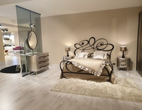 Camera da letto Noemi-papillon Cortezari in legno a prezzo ribassato