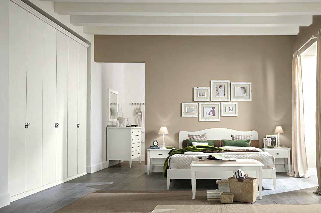 Camera matrimoniale colombini linea arcadia modello am224 - Camera da letto laccata bianca ...
