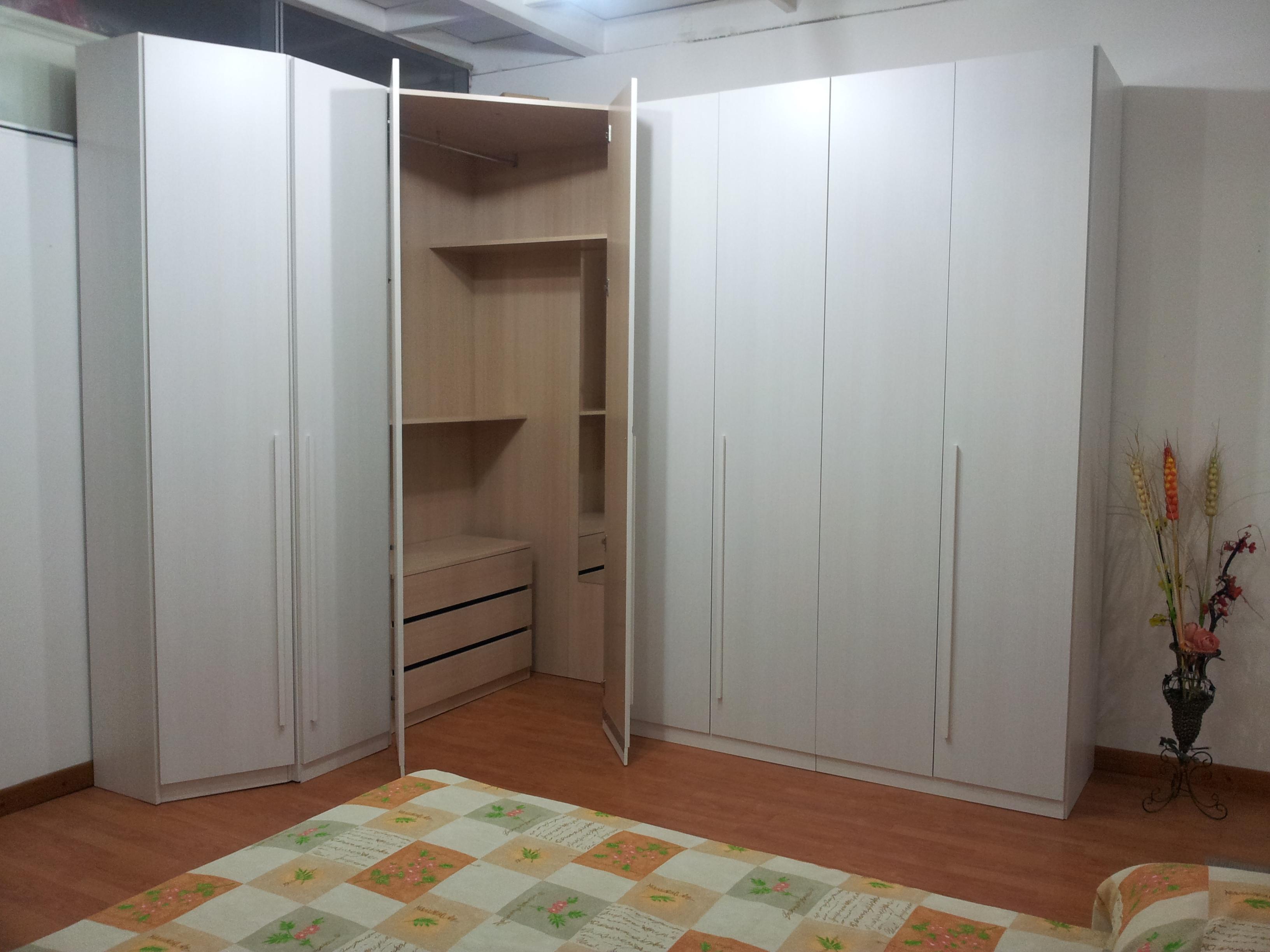 Cabina armadio scontata del 48 camere a prezzi scontati - Camere da letto con cabina armadio angolare ...