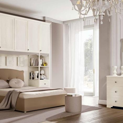 Camera a ponte con letto matrimoniale olmo bianco camere for Camera matrimoniale in legno