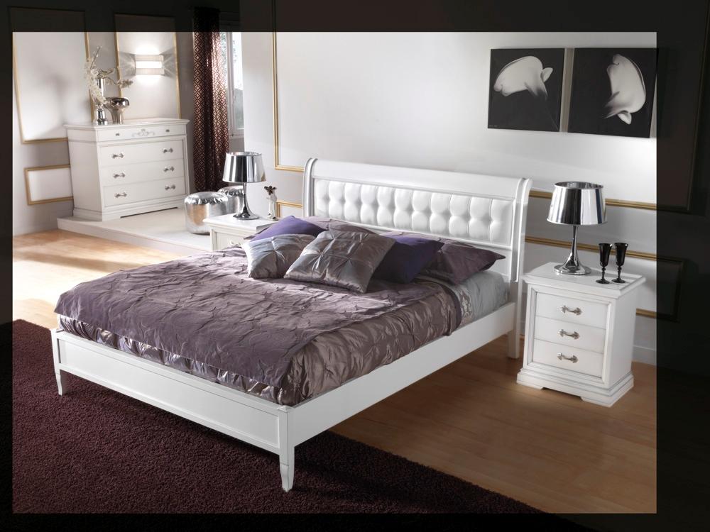 Camera bamar bassano laccato bianco consumato scontato del - Letto matrimoniale legno bianco ...