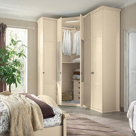 Camera colombini arcadia in melaminico stile classico - Camera da letto con cabina armadio ad angolo ...