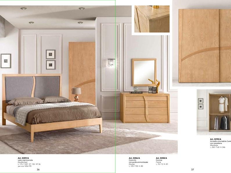 Camera completa Artigianale Camera completa in legno massello mottes mobili  a prezzo scontato in legno
