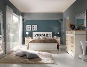 Camera completa Artigianale Camera matrimoniale in legno patinata bianca SCONTO 45%